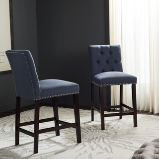 Safavieh Nrah Navy Counterstool (Set of 2)
