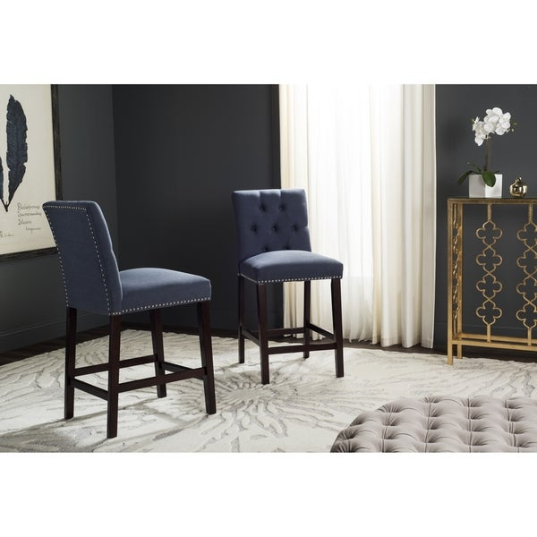 Shop Safavieh Norah Navy Counter Stool Set Of 2 On