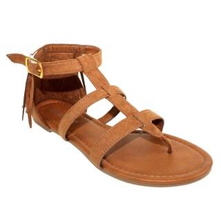 Olivia Miller 'Monaco' Back Fringe Buckle Sandals