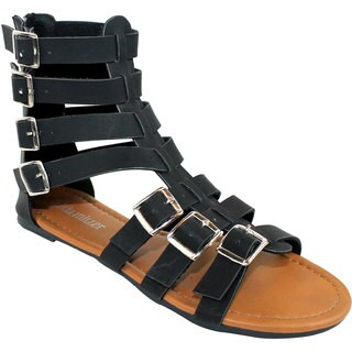 Olivia Miller 'Roma' Multi Buckle Gladiator Sandals
