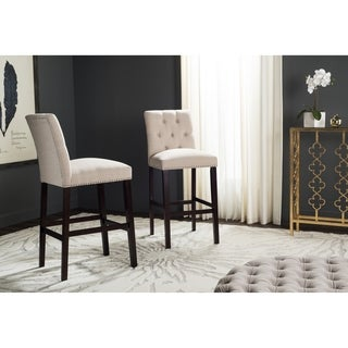 Safavieh Norah Beige Barstool (Set of 2)
