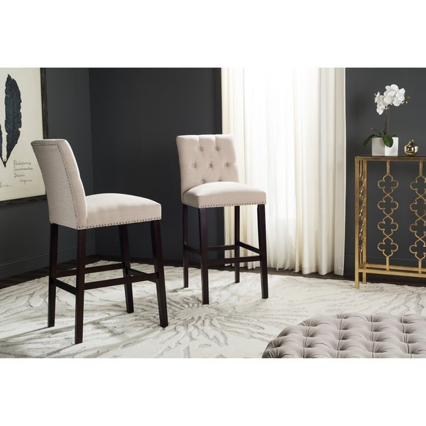 Safavieh Norah Beige Barstool Set Of 2 Free Shipping