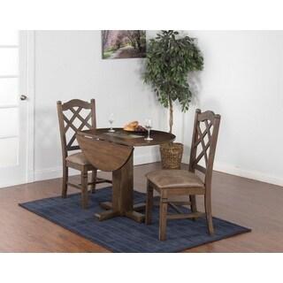 Sunny Designs Savannah Drop Leaf Table with Slate