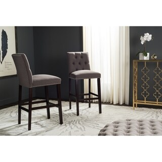 Safavieh Norah Dark Taupe Barstool (Set of 2)
