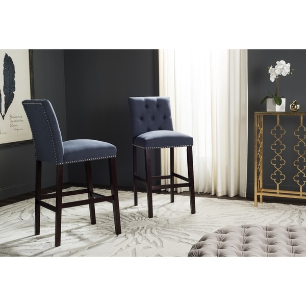 Shop Safavieh Norah Navy Barstool Set Of 2 Free
