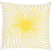Rizzy Home Embroidered Abstract Patterned 18-inch Throw Pillow