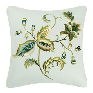 Amelia Blue Embroidered Throw Pillows - Set of 2
