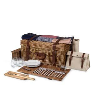 Picnic Time Charleston Picnic Basket (Option: Brown)|https://ak1.ostkcdn.com/images/products/11391140/P18358370.jpg?impolicy=medium
