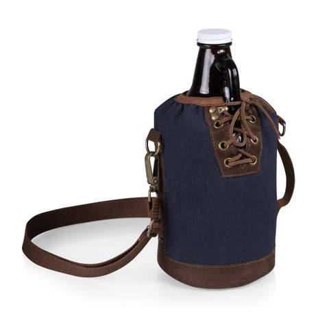 Legacy Growler Tote with 64-ounce Glass Growler