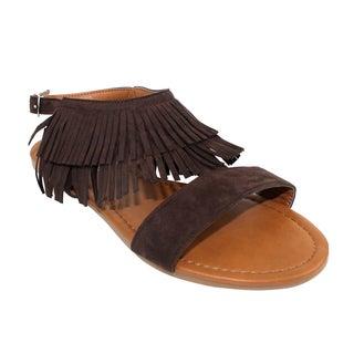 Olivia Miller 'Monte' Fringe Sandals