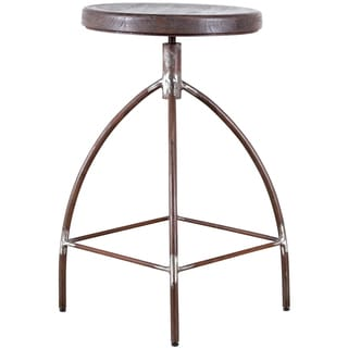 Steel and Mango Wood Counter Stool