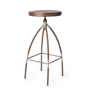 Steel and Mango Wood Bar Stool