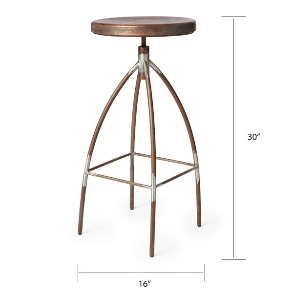 Tremendous Shop Handmade Cg Sparks Steel And Mango Wood Bar Stool Lamtechconsult Wood Chair Design Ideas Lamtechconsultcom