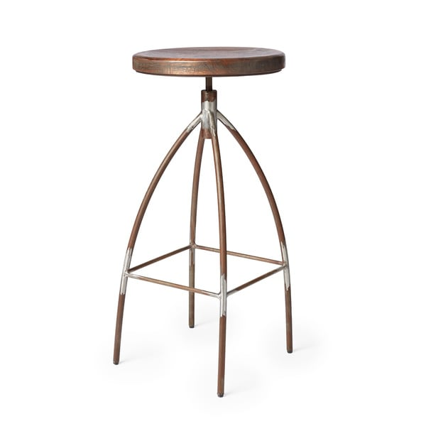 Shop Cg Sparks Steel Amp Mango Wood Bar Stool India Free