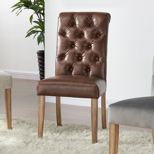 Shop Kavan Tufted Faux Leather Dining Chair (Set Of 2