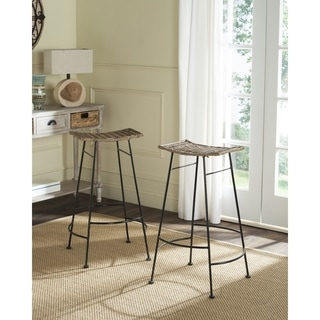Safavieh Atara Grey Barstool (Set of 2)