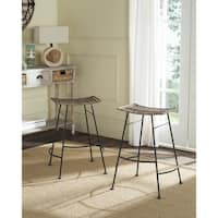 Shop Safavieh 26 8 Inch Akito Black Counter Stool Set Of