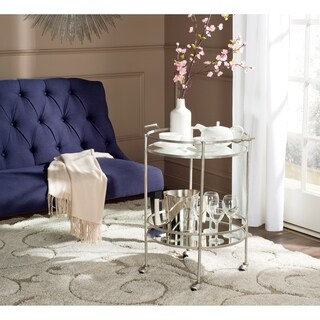 Safavieh Lavinia Silver/ Mirror Top Bar Cart