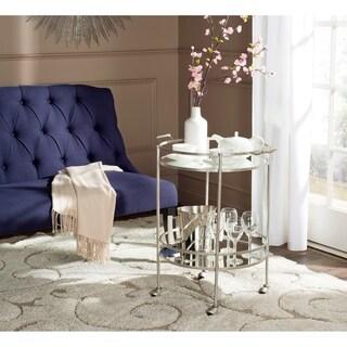Link to Safavieh Lavinia Silver/ Mirror Top Bar Cart Similar Items in Home Bars