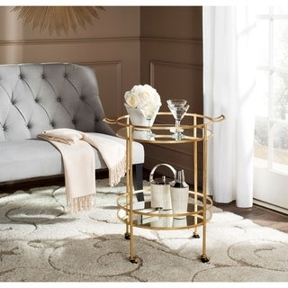 Safavieh Lavinia Gold/ Mirror Top Bar Cart