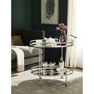 Safavieh Dante Silver/ Mirror Top Bar Cart