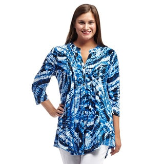 Link to La Cera Women's Printed Pleated Top Tunic Similar Items in Women's Plus-Size Clothing