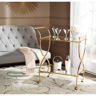 Safavieh Lucretius Gold/ Mirror Top Bar Cart