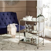 Safavieh Aurelius Silver/ Mirror Top Bar Cart