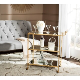 Safavieh Aurelius Gold/ Mirror Top Bar Cart