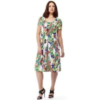 La Cera Women's Short Sleeve Printed Dress