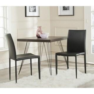 Safavieh Mid-Century Dining Karna Black Croc Dining Chairs (Set of 2)