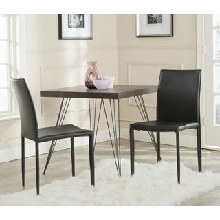 """Link to Safavieh Dining Mid-Century Karna Black Croc Dining Chairs (Set of 2) - 18.9"""" x 22.8"""" x 35.8"""" Similar Items in Dining Room & Bar Furniture"""