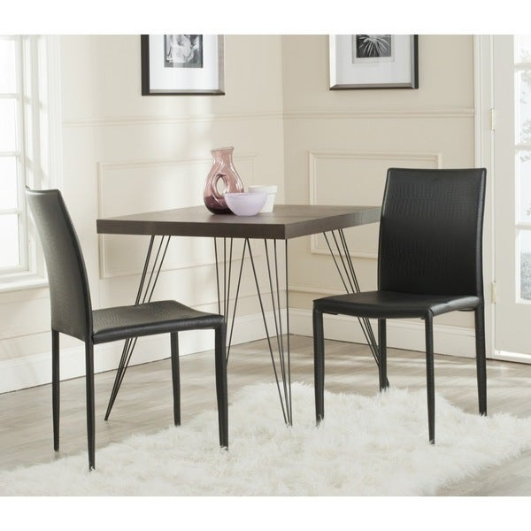 Safavieh Karna Dining Chair: Shop Safavieh Mid-Century Dining Karna Black Croc Dining