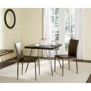 Safavieh Mid-Century Dining Karna Antique Brown Dining Chairs (Set of 2)