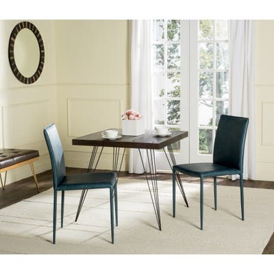 """SAFAVIEH Karna Faux Leather Dining Chair (Set of 2) - 18.9"""" x 22.8"""" x 35.8"""""""