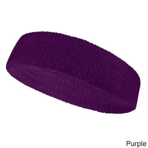 COUVER Premium Quality Stretchable Sport/Athletic Terry Head sweatband