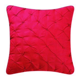 Red Diamond Tuck 17-inch Throw Pillows (Set of 2)