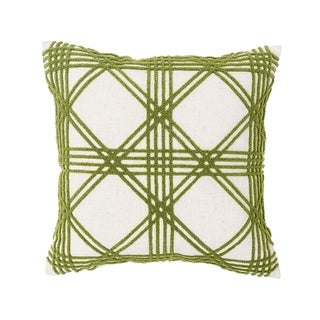 Lattice Tufted 17x17 Throw Pillow