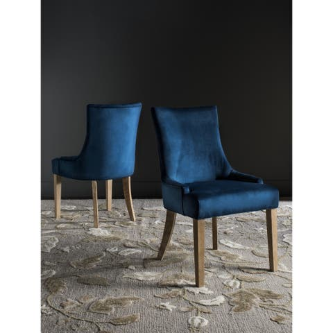 """SAFAVIEH Dining Lester Navy Dining Chairs (Set of 2) - 22"""" x 24.8"""" x 36.4"""""""