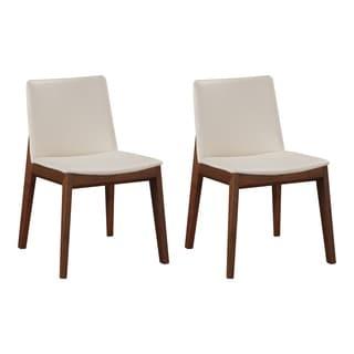Aurelle Home Clayton Mid Century Modern Dining Chair (Set of 2)