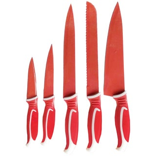 Diamond Home Red 5-piece Knife Set