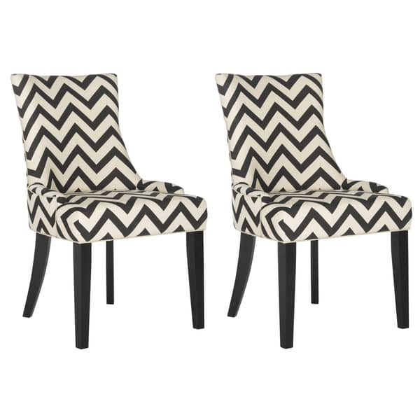 Phenomenal Shop Safavieh Dining Lester Black White Zig Zag Chevron Short Links Chair Design For Home Short Linksinfo
