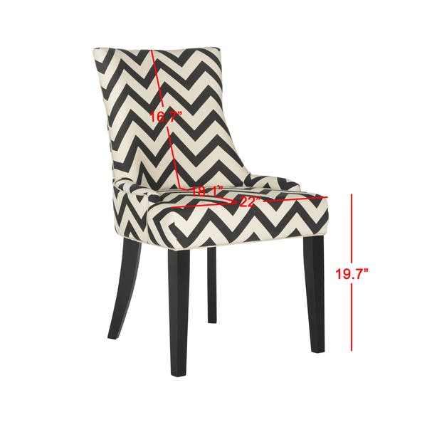 Fabulous Shop Safavieh Dining Lester Black White Zig Zag Chevron Short Links Chair Design For Home Short Linksinfo