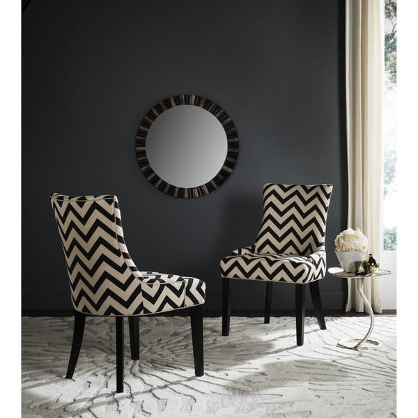 Pleasant Shop Safavieh Dining Lester Black White Zig Zag Chevron Short Links Chair Design For Home Short Linksinfo