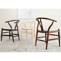 Safavieh Mid Century Dining Aramis Natural/ Ivory Dining Chairs (Set of 2)