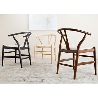Safavieh Mid Century Dining Aramis Natural/ Ivory Dining Chairs (Set of 2)