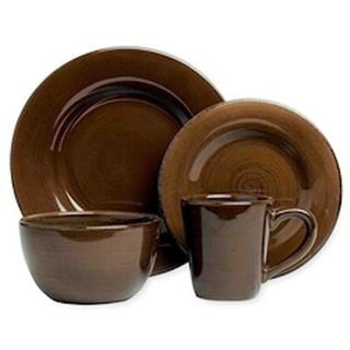 TAG SONOMA DINNERWARE 16pc - CHOCOLATE