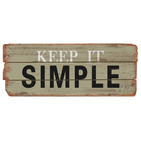 Shop Rustic Decor Keep It Simple Wood Sign - Overstock ...