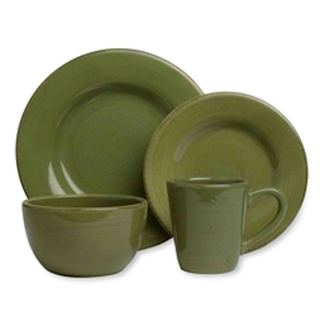 TAG Sonoma Dinnerware Collection Celadon 16pc  sc 1 st  Overstock.com & Earthenware Dinnerware For Less | Overstock