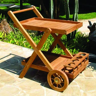 Vineyard Teak Wood Serving Cart (Indonesia)